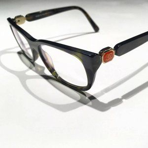 Chanel tortoise shell glasses frames enamel CC